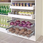 Pantry with pull out baskets