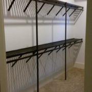 Customer reviews, Unique Custom Closets, custom closet, Custom Closets, Wilmington NC, dark wood closet shelving