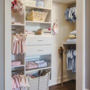 Reach In Closet, Custom Reach in Closet, Reach In Closets, Unique Custom closets, custom built reach in closet, nursery closet, nursery reach in closet