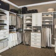 Stunning Portable Ivory Walk In Closet, Master Walk In Closet, Custom Walk In Closet, Unique Custom Closets, Custom Closets, Personal Storage, Personal Closet, Walk-in Closet, Closet construction, custom closets Wilmington, Wilmington NC, Closet Accessories, Unique Custom Closets & Accessories