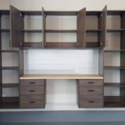 Unique Custom Closets, custom closets Wilmington, Wilmington NC, garage storage, garage accessories, custom garage shelving, garage shelving, wood garage shelving, wood garage tool shelf, tool shelf, work station, garage work station