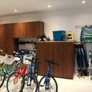Unique Custom Closets, custom closets Wilmington, Wilmington NC, garage storage, garage accessories, custom garage shelving, garage shelving, custom garage, garage rack, bike rack, garage cabinet, custom garage cabinet